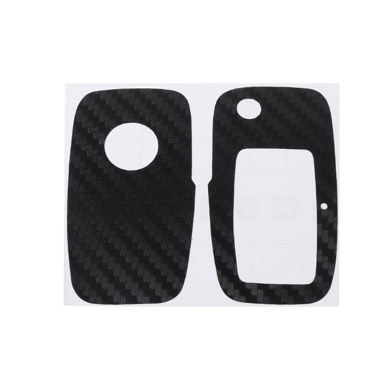 Black Carbon Fiber Decal Sticker Wrap Overlay Key Fob VW Passat 3C B7 CC SMART