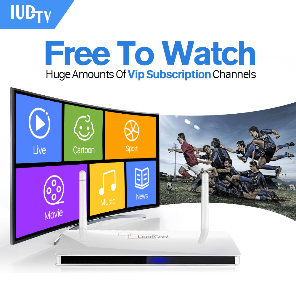 IPTV Streaming Box Leadcool Android Wifi 1G/8G Include 1700 Italy Portugal French Receiver Europe Arabic Channels Package iptv streaming box leadcool android wifi 1g 8g include 1700 italy portugal french receiver europe arabic channels package