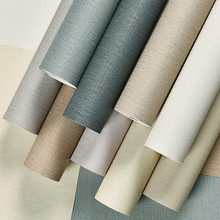 Modern Classic Solid Color Thicken Wall Papers Home Decor Waterproof Linen Wallpaper Roll For Walls Papel Contact