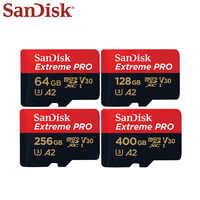 Original SanDisk Extreme Pro tarjeta Micro SD de 64GB y 128GB 256GB 400GB 512GB A2 U3 V30 SDXC tarjeta de memoria 170 MB/S TARJETA DE TF con adaptador
