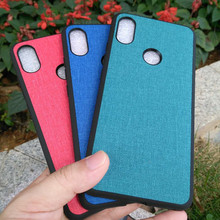 Shockproof Shell For Xiaomi Redmi S2 Y2 luxury fabric bag silicone phone Case for 5.99 Global version case