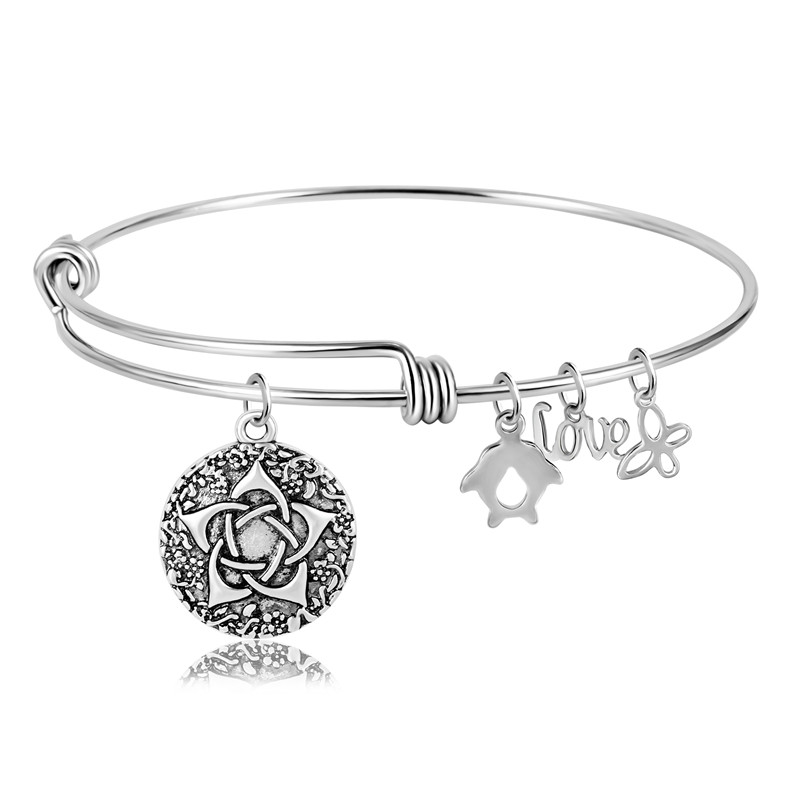 Us 4 99 Ezei Wiccan Symbols For Protection Of The Goddess Wiccan Jewelry Pagan Pentagram Locket Jewelry Charm Stainless Steel Bracelets In Bangles