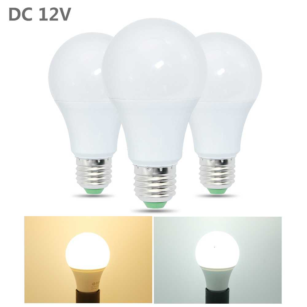 ANBLUB DC 12V E27 LED Bulb 3W 6W 9W 12W 15W Energy Saving Lamparas SMD 2835 LED Ball Light No Flicker Aluminum Board Bulbs