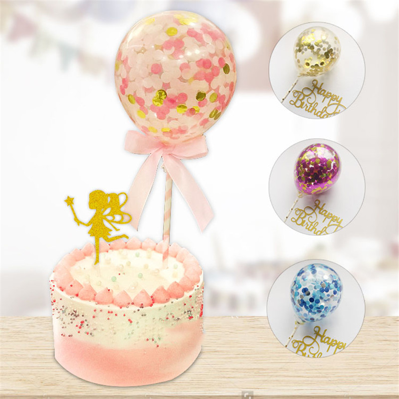 10sets Clear Confetti Balloons With Sticks Wedding ...