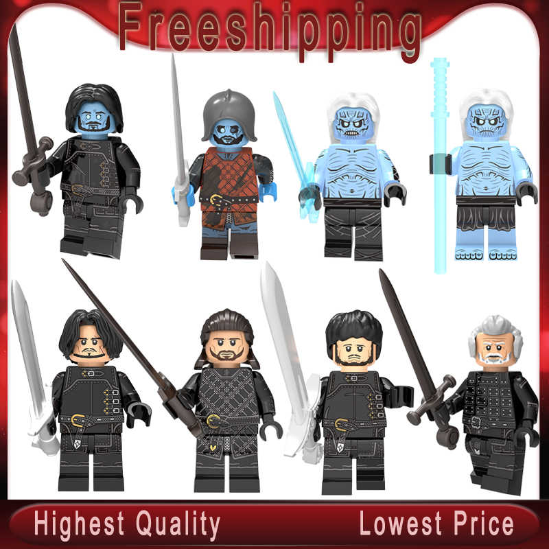 เกมบัลเล่ต์ Jon Snow White Walke วาง Benjen Stark Samwell Tarly Ice และ Fire Building blocks KT1024