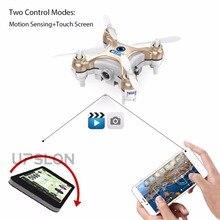 Nuevo control by teléfono celular cx10w wifi fpv rc quadcopter 0.3mp Cámara Led Flip 3d Versión de $ number canales Mini Helicóptero Teledirigido regalo