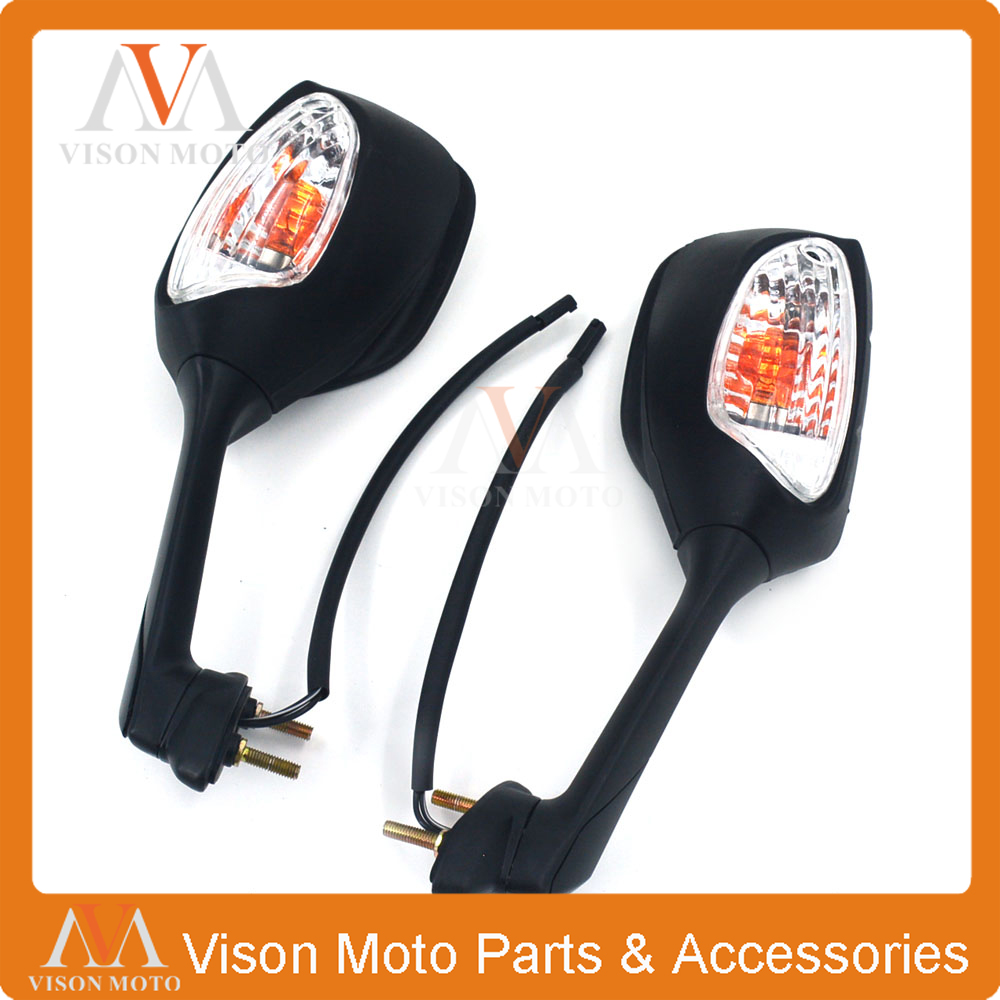 Motorcycle Side Mirror Rearview Turn Signal Rear View For SUZUKI GSXR1000 2009-2016 GSXR600 GSXR750 11-14 GSXR 1000 600 750 motorcycle rear brake disc for suzuki gsxr600 gsxr750 gsxr1000 abs gsxr1100 sv650 svs650 sv1000 svs1000 tlr1000 tls1000 new