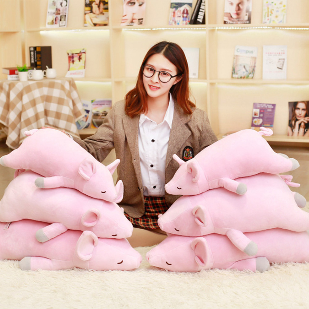Fancytrader Soft Pink Pig Plush Toy Big Stuffed Animals Pig Doll Pillow for Kids Gift 70cm 28inch fancytrader giant plush blue whale toy big stuffed soft sea animals whale pillow doll kids best gifts