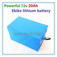 2000 W do motor ebike bateria de lítio 72 v 20ah bateria bicicleta elétrica com carregador e BMS 4A