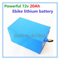 2000W motor ebike lithium battery 72v 20ah electric bike battery with 4A charger and BMS