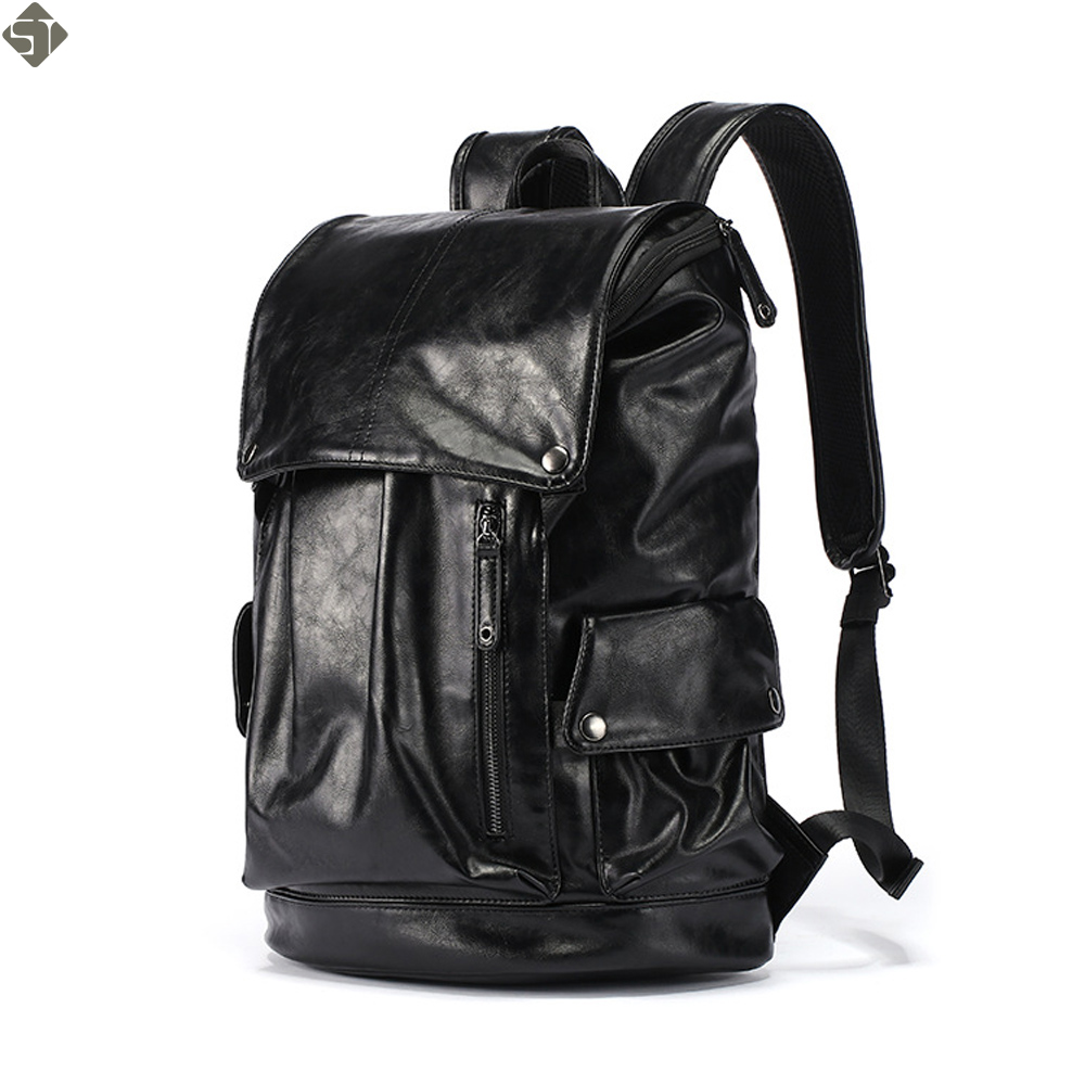 FUSHAN High Capacity Large Mens Travel Backpack Bag Black ...
