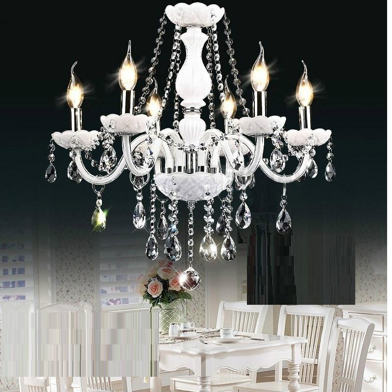 White Modern chandelier crystal light Large crystal white chandelier 6/8/10/15/18 Lights Arm Luxury crystal light chandelierWhite Modern chandelier crystal light Large crystal white chandelier 6/8/10/15/18 Lights Arm Luxury crystal light chandelier
