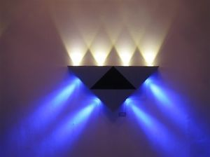 8W Triangle LED Wall Light Fixture Hotel Cafe Hall Lobby Walkway Decor Lamp Bulb