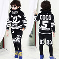 New fashion Spring Autumn boy children's clothing set streets Costumes kids sport suits Hip Hop dance pants sweatshirt
