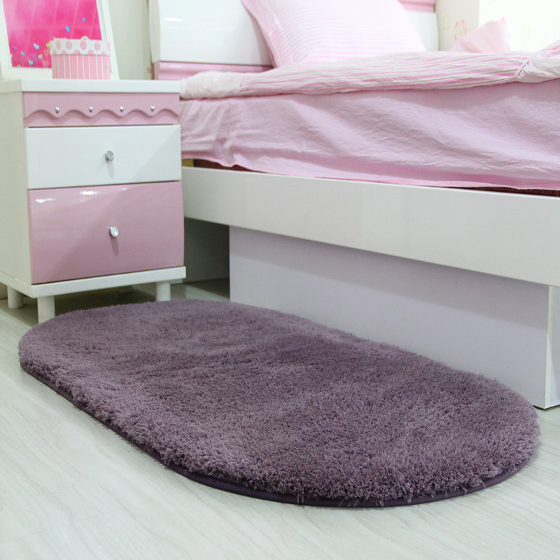 Oval Shape Bedroom Mat,Anti Slip Bathroom Mat,Bath Rugs