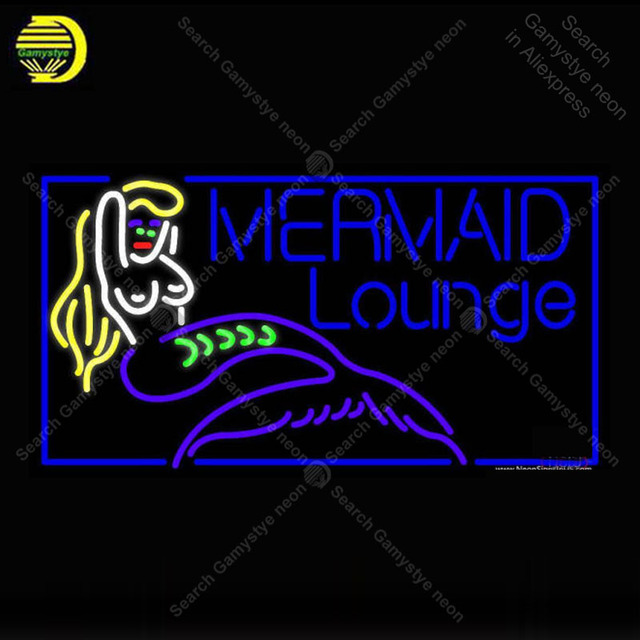 US $180 0 20% OFF|NEON SIGN For Mermaid Lounge NEON Bulbs Sign Lamp Decor  Room Store Shop Room Handcraft Beer light up signs neon lights for sale-in
