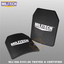 MILITECH 2 個ペア 11 × 14 インチシューティングゲームカット NIJ IIIA 3A 超軽量弾道パネル防弾バックパック PE プレート