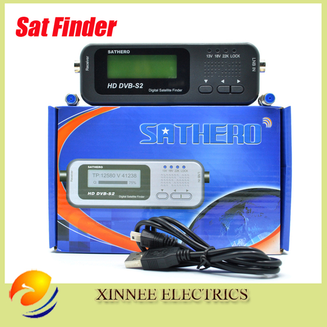 Original Sathero SH-100HD Pocket Digital Satellite Finder Satellite Meter HD Signal Sat Finder DVB-S2 USB 2.0
