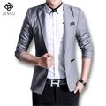2016 New Gray Men Suit British Style Gentlemen Mens Suit Fashion Slim Fit Blazer Business Suits For Men High Quality Men Suits