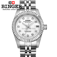 BINGER Automatic Mechanical Watch Self Winding Men Women Lovers Watches Dress Fashion Luxury Brand Wristwatches 100M Waterproof