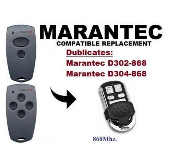 FOR Marantec D302,D304 868Mhz Garage Door/Gate compatible Remote Control Duplicator marantec digital 302 d304 d313 compatible garage gate remote digital comfort cloner