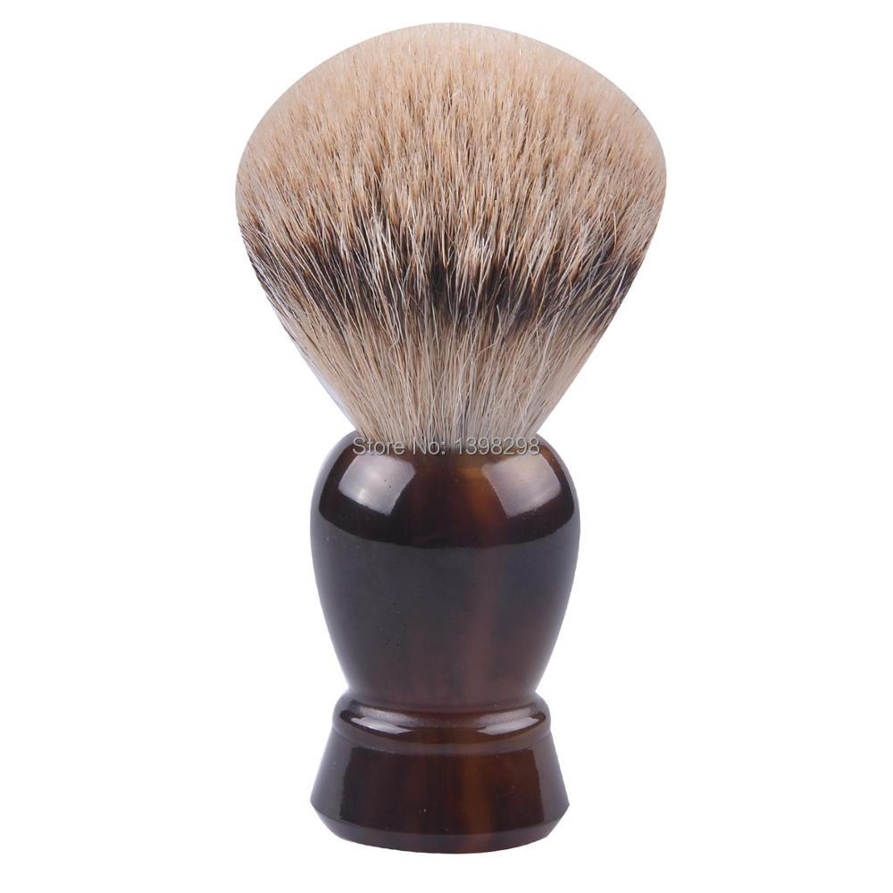 Tortoise Shell Handle Silvertip Badger Hair Knot Men Shaving Brushes Beard Shave Brush