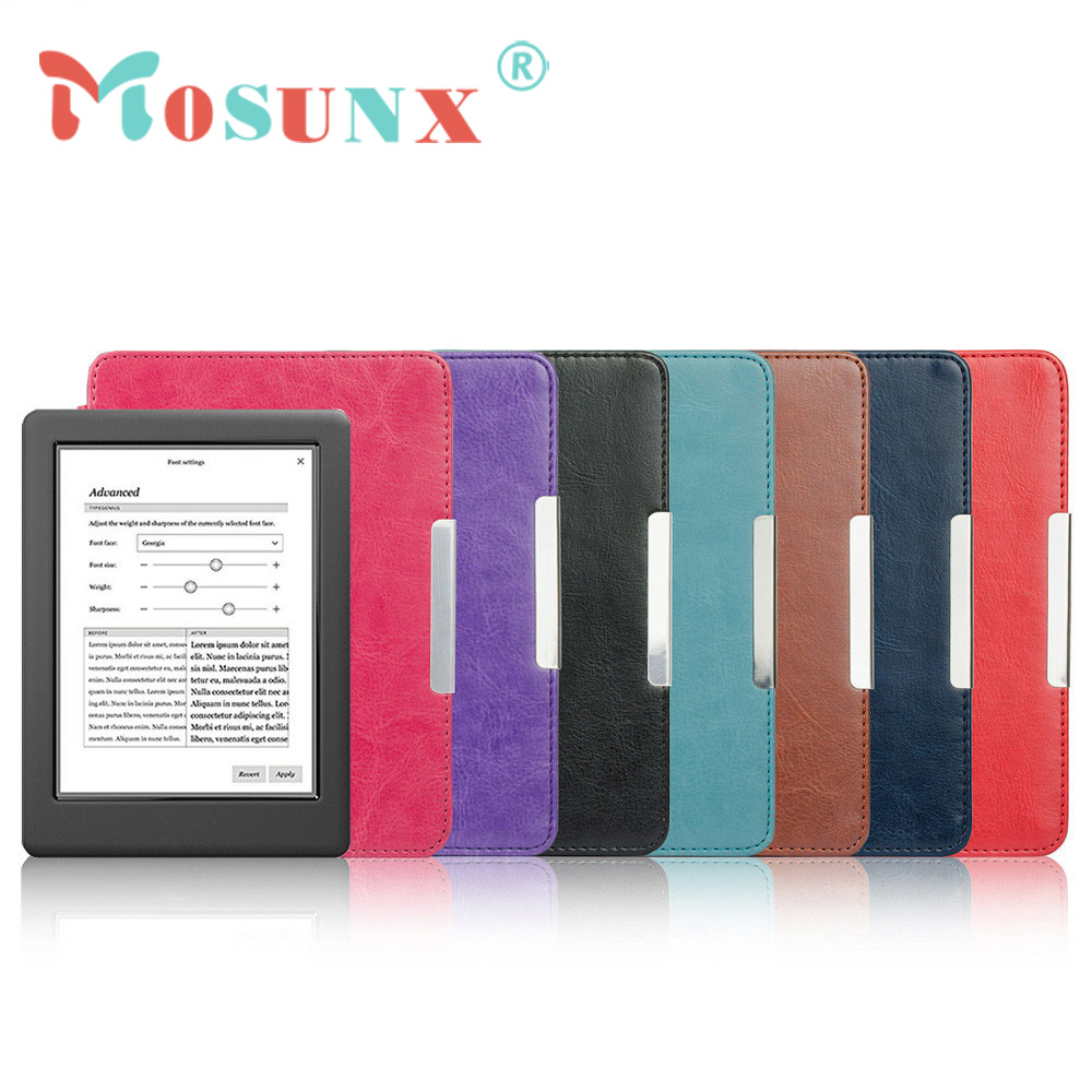 Magnetic Auto Sleep Slim Cover Case Hard Shell For KOBO GLO HD 6.0inch DEC21