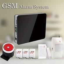 Бесплатная Доставка Мода Дизайн 433 МГц Беспроводная GSM Сигнализация Поддержка Английский Русский Испанский Беспроводная Охранная Система