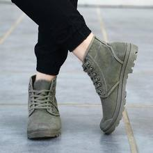 Men Canvas Shoes Fashion High Top Ankle Boots Comfortable Thick Bottom Casual Canvas Shoes High Quality Lace Up Boots For Men