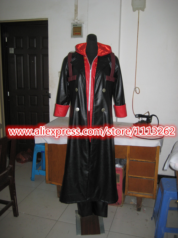 Devil May Cry DMC Jacket Games Devil May Cry PU Leather Hooded Coat Dante Cosplay Costume