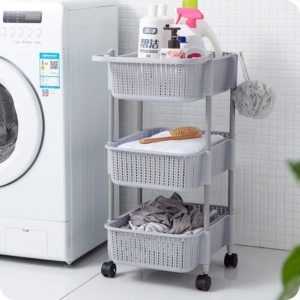 Многослойная корзина для хранения для кухни, ванной комнаты, пластиковая Съемная напольная стойка для овощей, корзина для хранения фруктов wx9031339