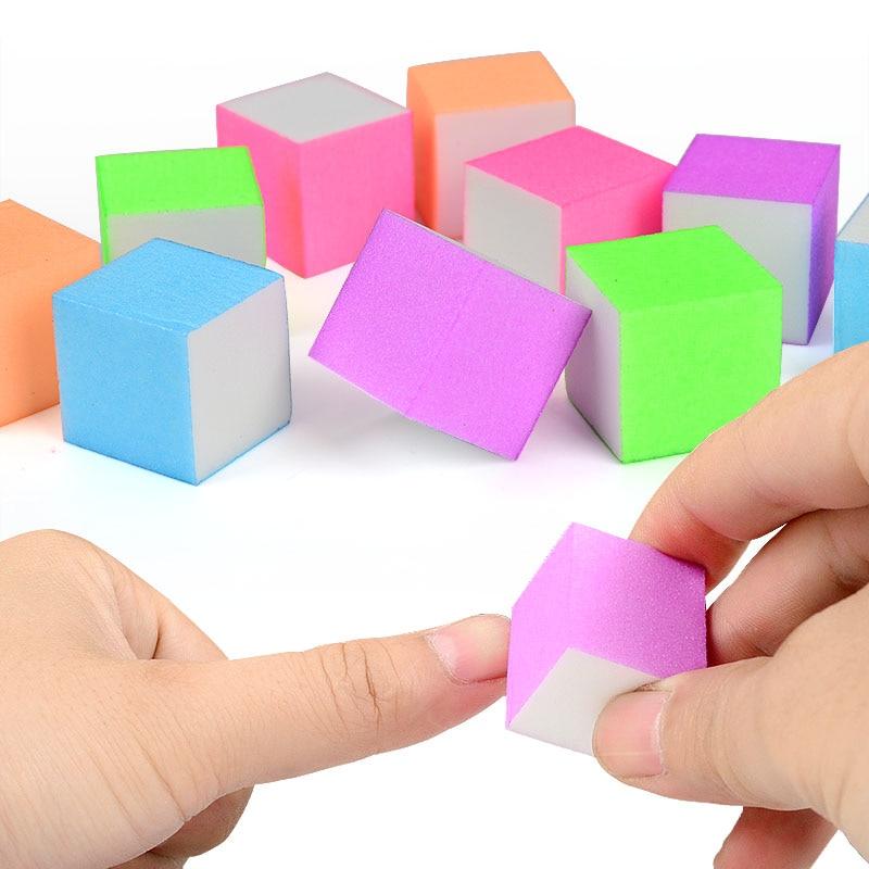 10 Pcs Mini Irregular Nail File Buffer Colorful Sanding Sponge Grinding Polishing Nail Art Manicure Salon DIY Tool
