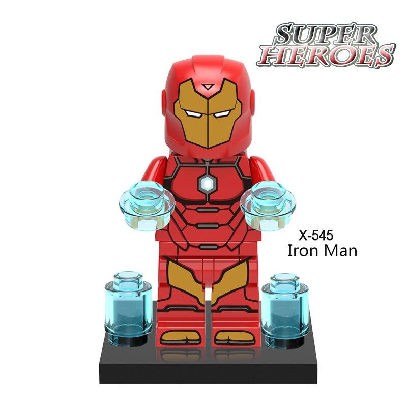 Iron Man Coulson Action Figures Building Blocks Superhero Star Wars Avengers Set Bricks Learning Educational Kids DIY Toys XH545 cheerlink zm 81 3mm neodymium iron diy educational toys set silver 81 pcs