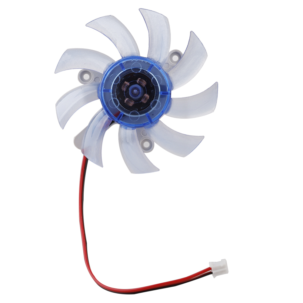 Cooling Fan 55mm 75mm 2Pin PC Graphics Video Card Heatsink Cooler Cooling Replacement Fan 12V image