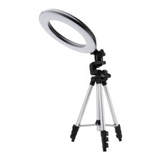 "BORUiT 10"" Dimmable SMD LED Studio Camera Ring Light 18W Photography Photo Video Fill Ring Light with Tripod for Canon Makeup(China)"