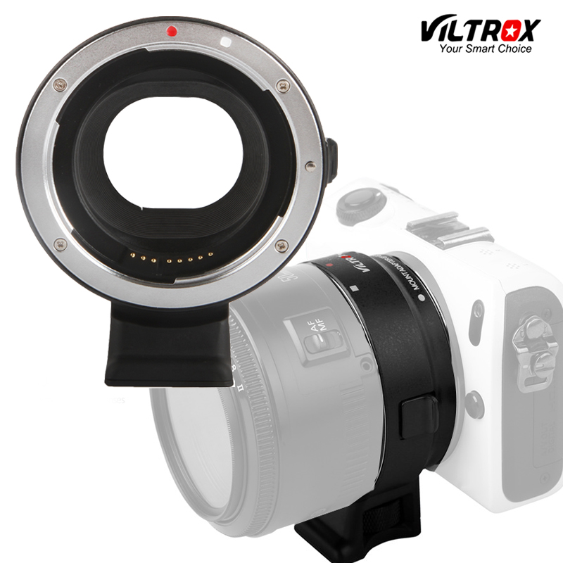 Viltrox EF-EOSM Electronic Auto Focus Lens adapter for Canon EOS EF EF-S lens to Canon EOS M EF-M M2 M3 M5 M6 M10 Mount Camera fotga pk eosm pentax pk lens to canon m mount adapter black silver