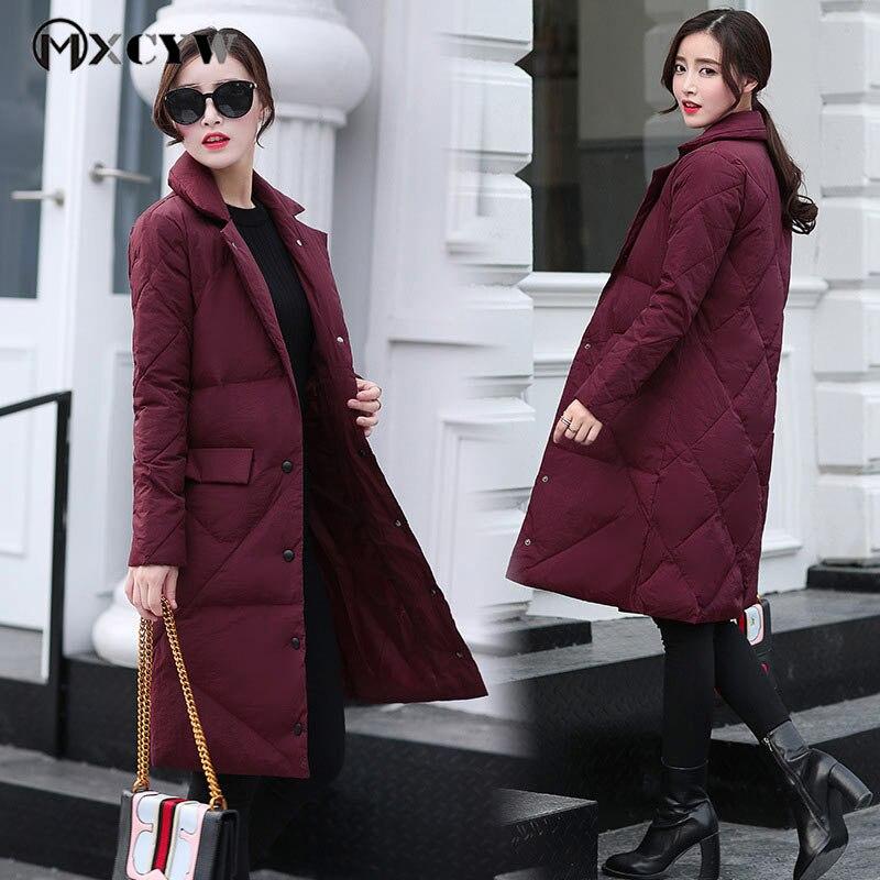 Fashion Cotton Plus Size Jacket Solid Thicker Warm Long Winter Jacket Women Coat Black   Parka   Outerwear Female Down Jacket 4Xl