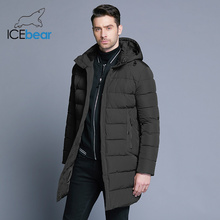 ICEbear 2018 Winter Jacket Men Hat Detachable Warm Coat Causal Parkas Cotton Padded Winter Jacket Men Clothing MWD18821D