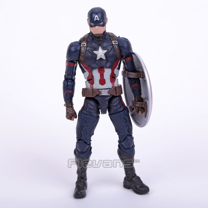 Original Good Quality Captain America with Shield PVC Action Figure Collectible Model Toy 16cm 2 Colors marvel avengers chess captain america pvc action figure collectible model toy 15cm hrfg462