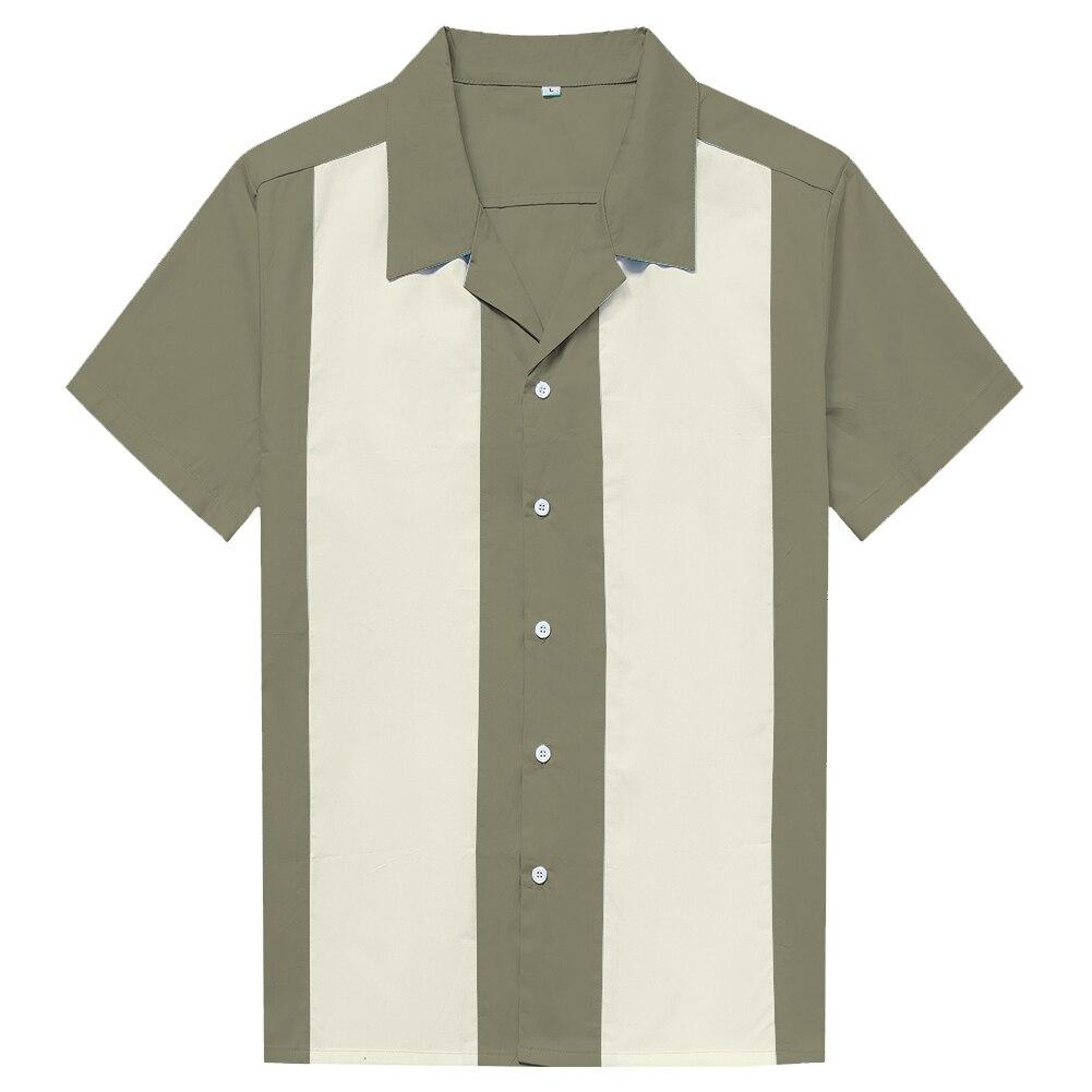 Online Men Clothes Rock Cotton Marron Ivory Vintage Design
