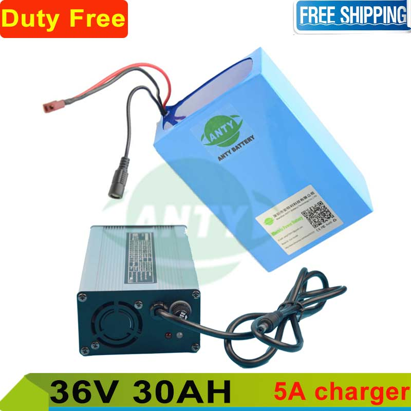 Customs tax / shipping free electric bike battery 36v 30ah lithium battery pack 36v with 5A charger for e bike scooter kit motor free shipping customs duty hailong battery 48v 10ah lithium ion battery pack 48 volts battery for electric bike with charger