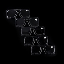 No Frame 1Pc Clip On Reading Glasses Older Mirror Nose Clip Mini Small Eyeglasses(China)