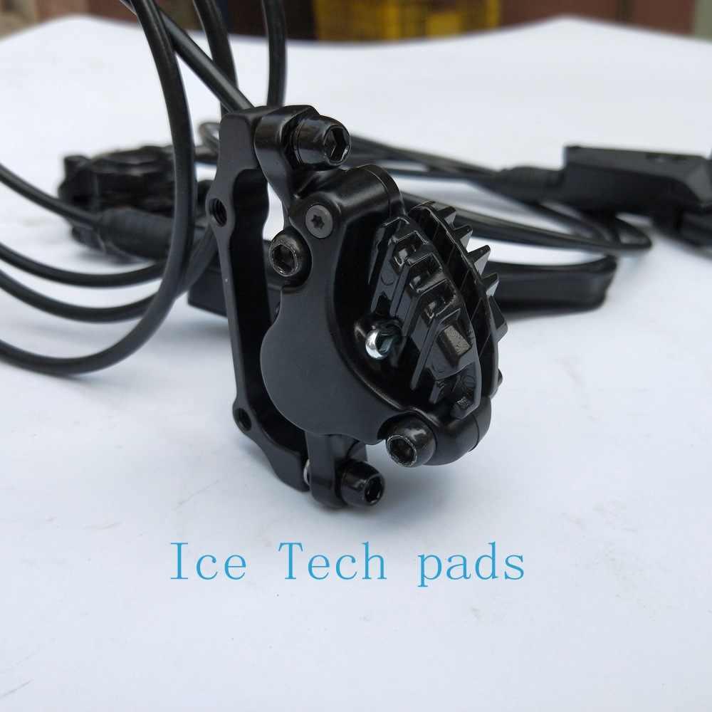 Гидравлические дисковые тормоза для Shimano Deore XT M8000 левый и правый 800/1500 мм MTB горный велосипед тормоза включают ICE-TECH тормозные колодки