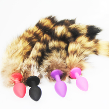 7e2ad4cf2 wild Fox Tail Metal Furry Doggy Anal Plug Sexy Toys Butt Plug BDSM Flirt Anus  Plug For Women WILD cat Tail Adult Toy Stimu