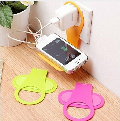 5pcs! Portable Plastic Cell Phone Shelf Wall Holder Universal Folding Phone Charging Organizer Storage Rack Sink