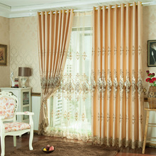 Curtains for Living Dining Room Bedroom 2016 New Curtain High-end European Style Curtains Finished Goods E