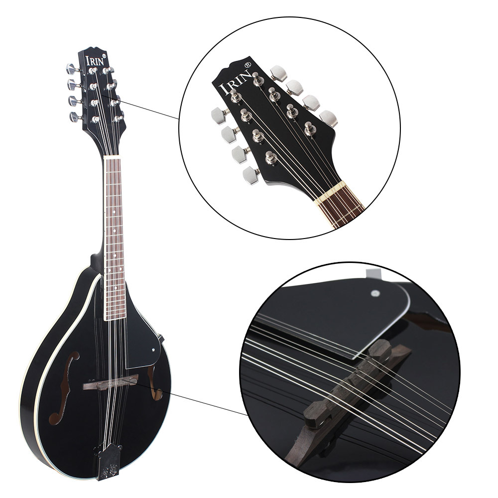 UM Estilo 8 Cordas Basswood Bandolim Ukulele Instrumento Musical com Rosewood Bandolim Cordas De Aço Guitarra Instrumento Ajustável - 3