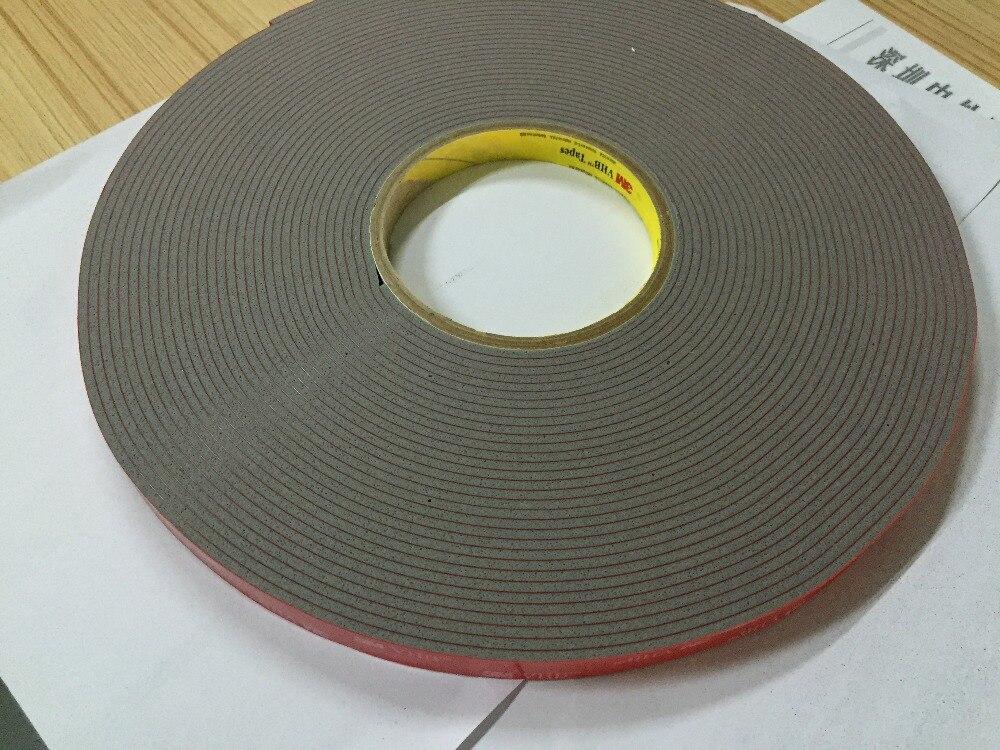 Бесплатная доставка 12mm x 16,5 m 3m 4991 VHB серый Акриловая Двухсторонняя поролоновая клейкая лента
