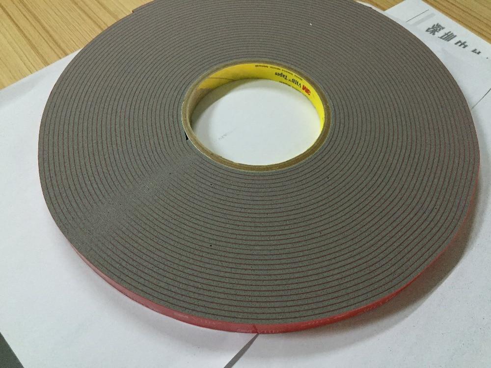 Free Shipping 12mmx16.5m 3M 4991 VHB GREY Acrylic Double Sided Foam Adhesive Tape 1piece 3m vhb 5952 heavy duty double sided adhesive acrylic foam tape black 150mmx100mmx1 1mm