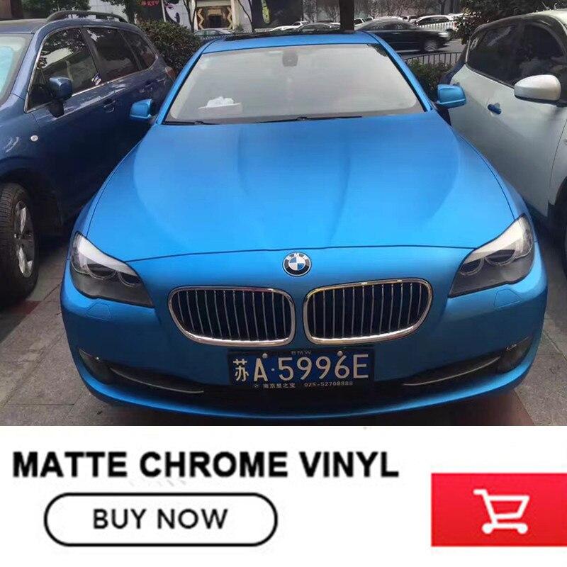 High Quality Matte Satin Chrome Sky Blue Vinyl Wrap Folie Matte Metallic Blue Car Body Film